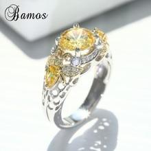 Bamos Cute Bee Jewelry Luxury Cubic Zirconia Animal Ring Vin