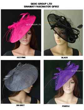 Wholesale Hot pink,Purple,nude pink,ivory.new color. BIG sinamay hat fascinator for races,wedding,kentucky derby.FREE SHIPPING - DISCOUNT ITEM  0% OFF All Category