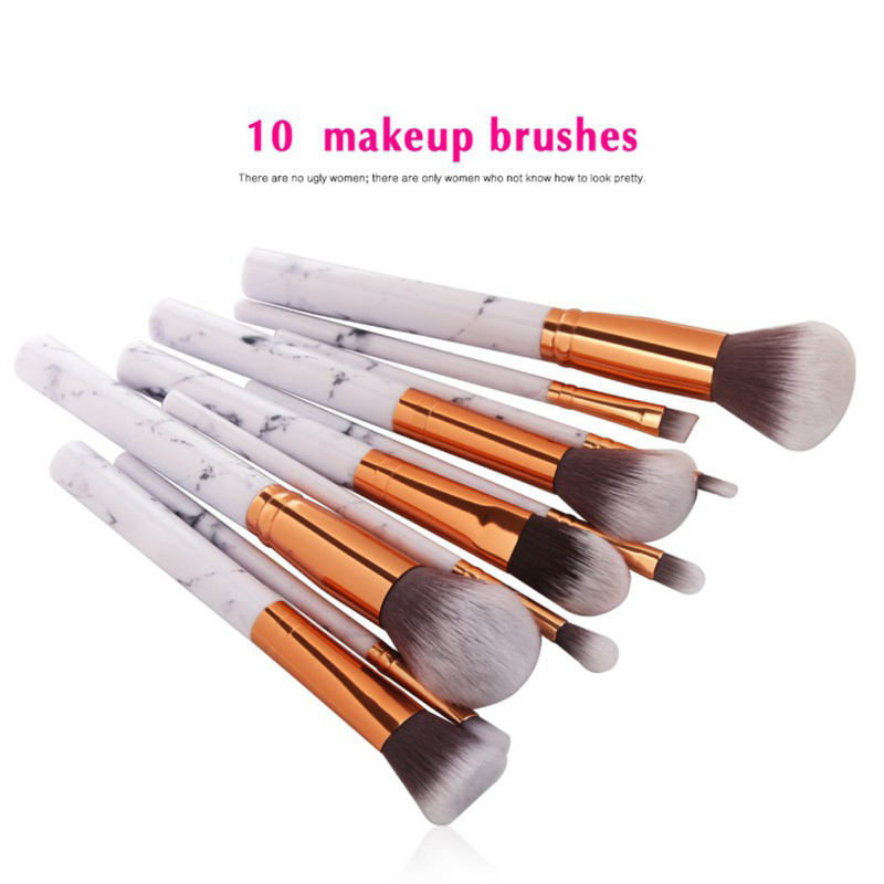 Hot Marble Pattern Makeup Brushes Set Pro Eyeshadow Foundation Powder Make Up Brush maquiagem Cosmetics Kit pro 15pcs tz makeup brushes set powder foundation blush eyeshadow eyebrow face brush pincel maquiagem cosmetics kits with bag