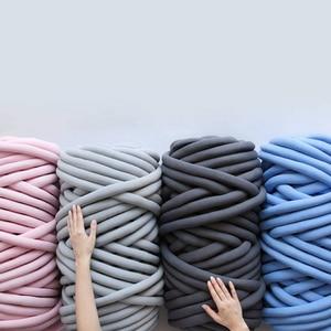 Image 2 - mylb 1000g/Ball Super Thick Natural Wool Chunky Yarn DIY Bulky Arm Roving Knit Blanket Hand Knitting Spin Yarn DIY Blanket 60m