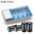 PALO 4 Ranuras Cargador de Batería de Carga Rápida Para Baterías de Nimh Nicd aa de litio aaa 6f22 baterías recargables 4 unids 8000 mah d tamaño Batterie