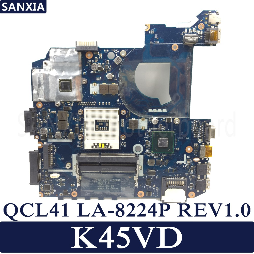 KEFU QCL41 LA-8224P Laptop motherboard for ASUS K45VD A45V K45V K45VM K45VJ K45VS A45VJ Test original mainboard k45vd val40 la 8226p with i3 cpu gt610m 2gb mainboard for asus a85v a45v k45v k45vm k45vd laptop motherboard free shipping