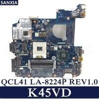 KEFU QCL41 LA 8224P Laptop motherboard for ASUS K45VD A45V K45V K45VM K45VJ K45VS A45VJ Test original mainboard