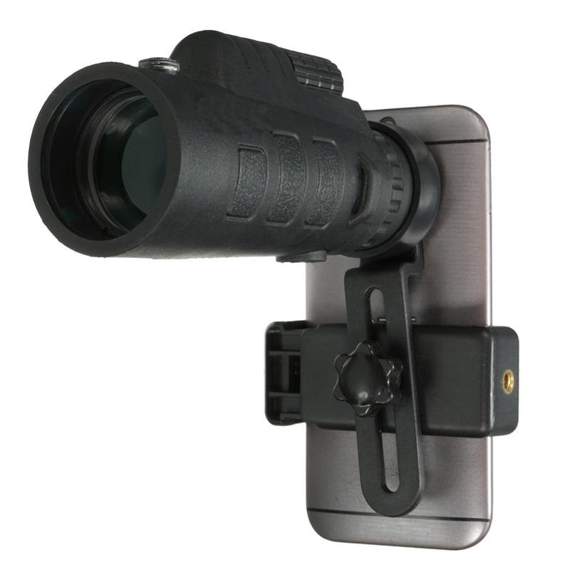 Universale 35x50 Zoom HD Monoculare Ottico Del Telescopio Del Telefono Lens Osservando Survey Campeggio Telescopio Con La Clip Per Smartphone