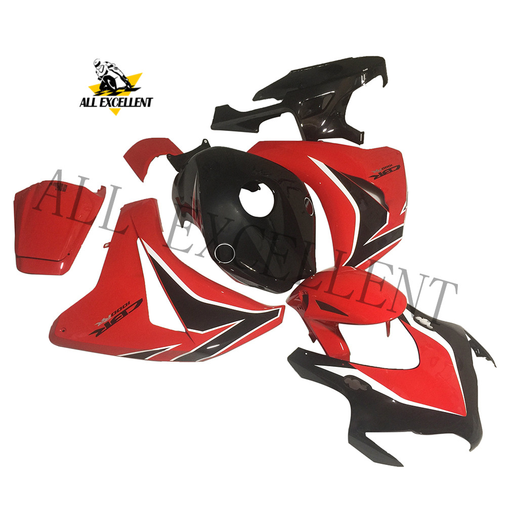 <font><b>2008</b></font> 2009 2010 <font><b>CBR1000RR</b></font> CBR 1000 RR Red custom fairing kits bodywork Complete fairing <font><b>parts</b></font> high quality ABS image