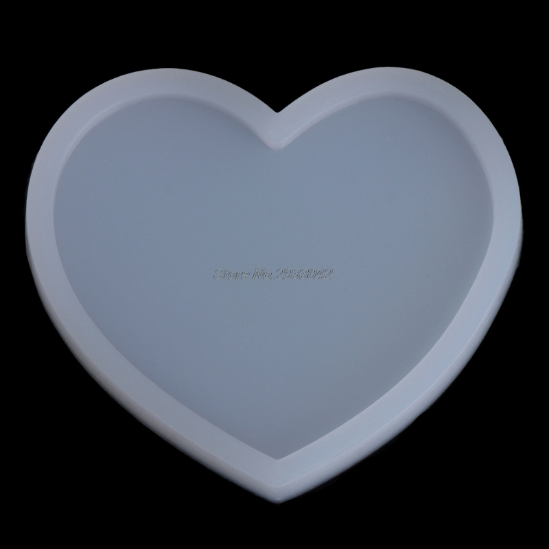 Silicone Heart Shape Pendant Mold DIY Making Jewelry Resin Casting Craft Tool -W128
