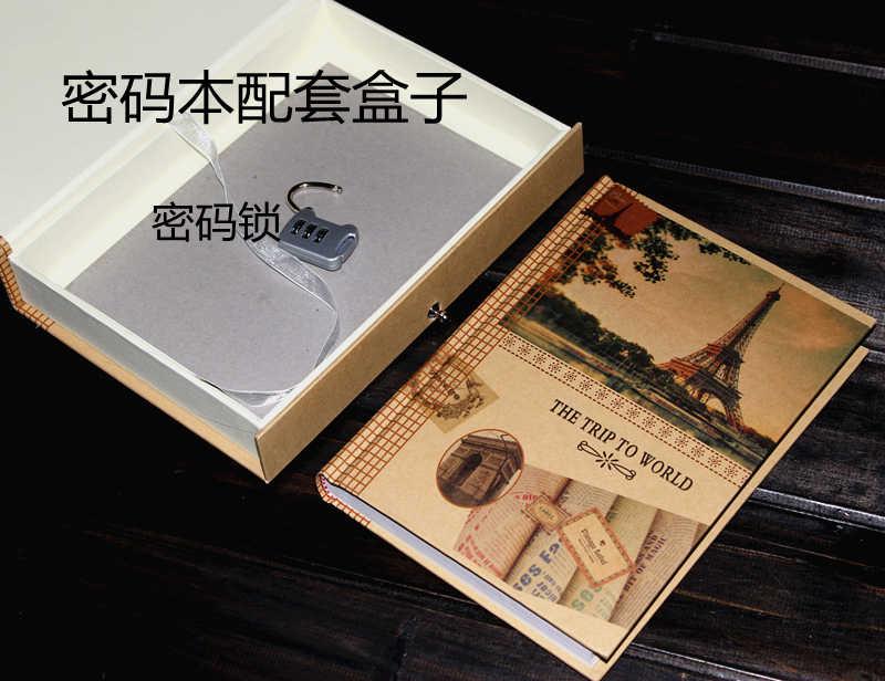 Meriyana Flowers Diary Book Password Fashion Vintage Boxed Diary