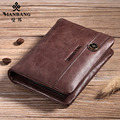 Manbang 2017 Designer leather card holder for men high quality passport  credit card case Name Card bags MBK1079