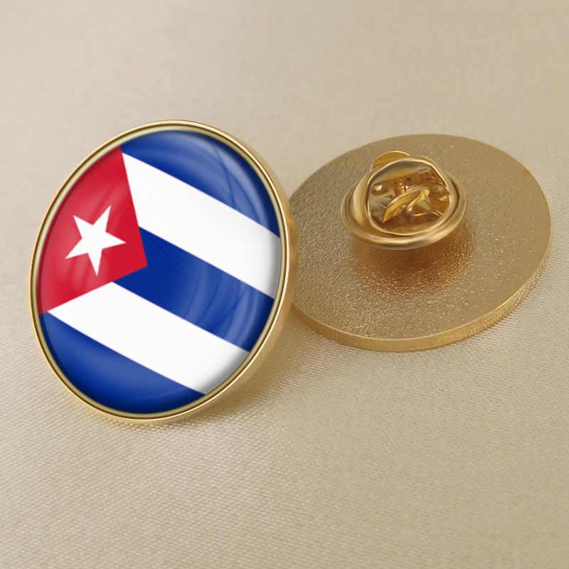 معطف من الأسلحة في كوبا/الكوبيين العلم شعار وطني بروش/شارات/دبابيس التلبيب