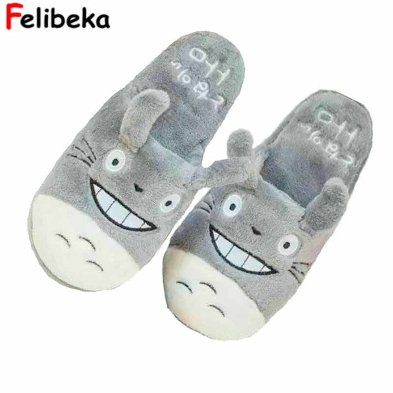 14e1b59d91a Totoro Cute Cat Cartoon Animal Women men Couples Home Slipper For Indoor  House Bedroom Flats