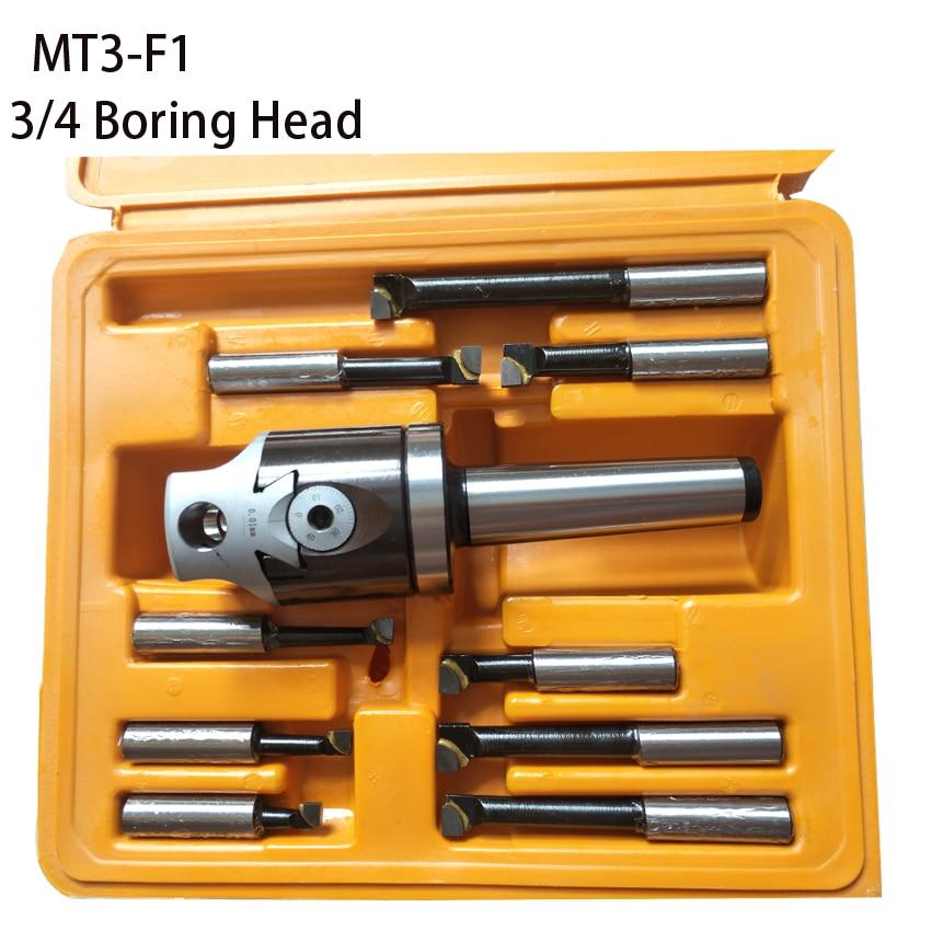 long tool life MT3 M12 Arbor F1 -12 50mm boring head and 9pcs 12mm boring bars boring head set 3/4 F1 boring head 1 pc f1 2 inch boring head with mt2 boring shank and 9pcs 12mm boring bars boring head set