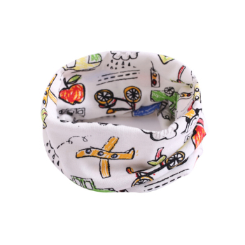Children Warm Cotton Scarf Shawl Winter Cartoon Print Pattern Comfortable Neckerchief CX17