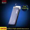 SSK SFD223 USB 3.0 Flash Drive 100% 64GB Pen Drive Metal High Speed Memory Usb Stick Free shipping