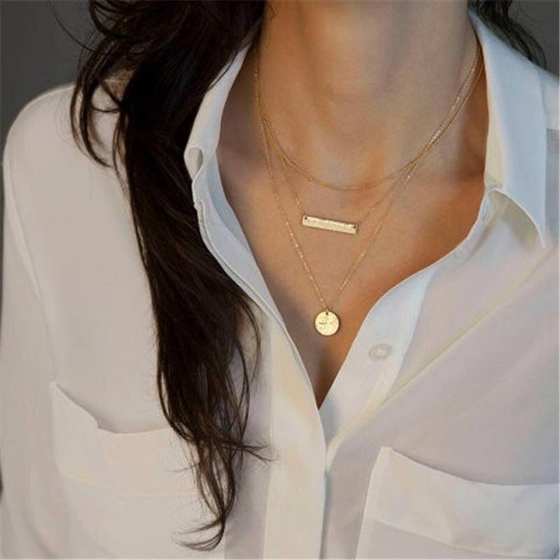 Модное женское ожерелье из сплава, s& Кулоны, колье, ожерелье золотого цвета с кристаллами, ожерелье для женщин, подарок