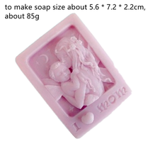 Rectangle Soap Silicone Mold I Love Mom Baby Pattern Square Hand made Making