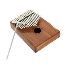 Portable Solid Mahogany 17 Key Mbira with Bag Musical Instrument Birthday Gift