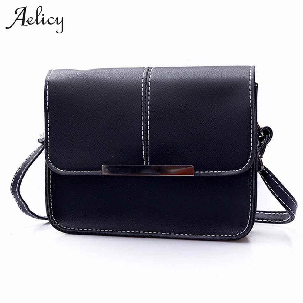 Aelicy luxury New Vintage Casual PU Leather Women Handbags Ladies Small  Shopping Bag Shoulder Messenger Crossbody 7a8b9667b2b96
