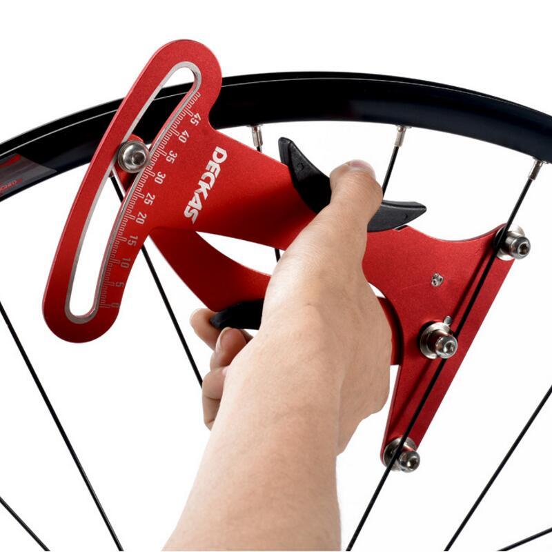 Deckas Bike Indicator Attrezi Meter Tensiometer Bicycle Spoke Tension Wheel Builders Tool Bicycle Spoke Repair Tool цены онлайн