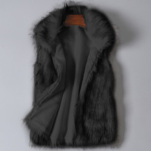 Womens Wool Vest Faux Fur Stand Collar Coat Jacket Abrigo Mujer manteau femme hiver_3.25