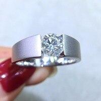 Настоящие хорошие драгоценности 18 каратного золота AU750 G18K 1ct муассанит кольцо с бриллиантом Кольца с полудрагоценными камнями для Для женщи