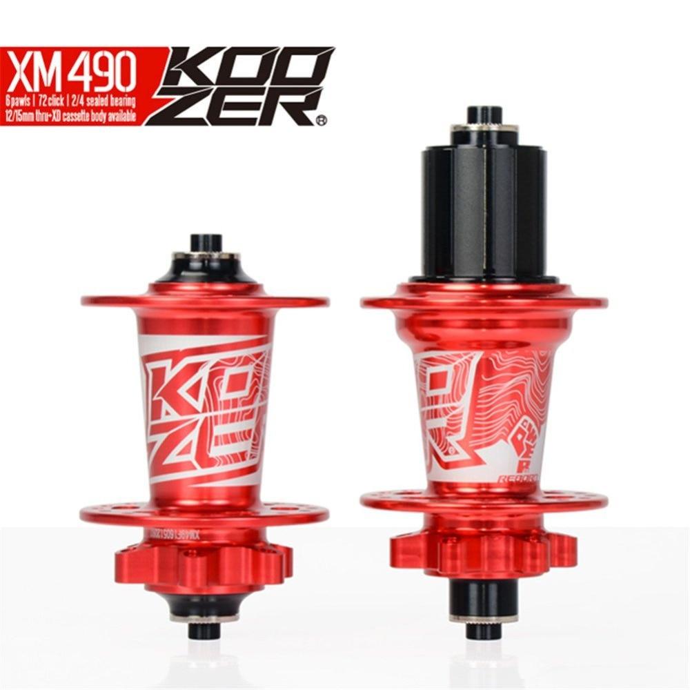 KOOZER XM490 CNC VTT moyeu ensemble 2/4 roulements vtt 32 trous avant et arrière avec QR moyeu de vélo/F15mm R12X142mm