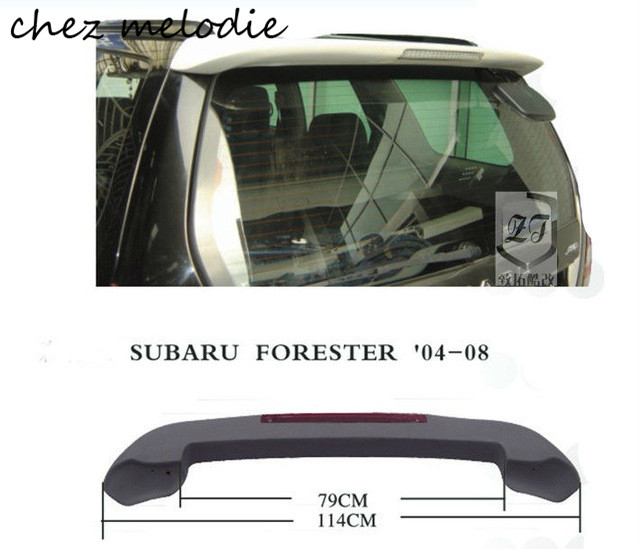 Primer unpainted ABS Car rear roof Spoiler Wing For old Subaru Forester 2004-2008, with brake light unpainted rear roof lip spoiler wing for bmw e87 e81 2004 2011