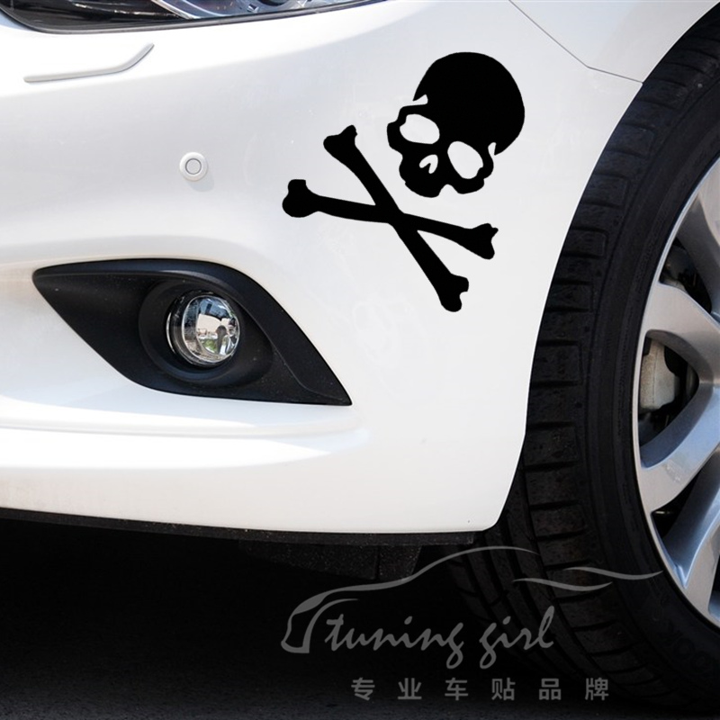 Car Stickers Skull Ghost Rider Devil Creative Decals For