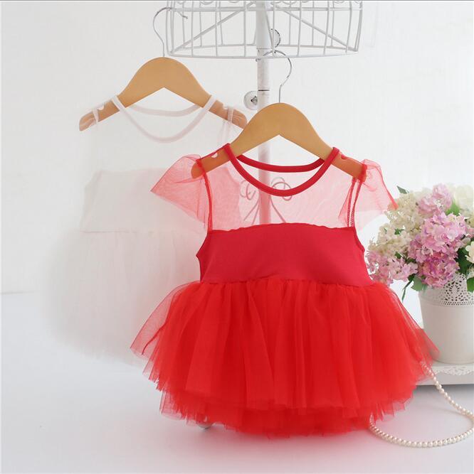 Маленькая Кружевное платье-пачка для маленьких девочек малышей праздничное платье принцессы Дети летние Элитная одежда 2017 детская одежда