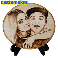 personalityl customized gift A picture branded on a tree home decoration accessories Home decorations Meaningful gifts