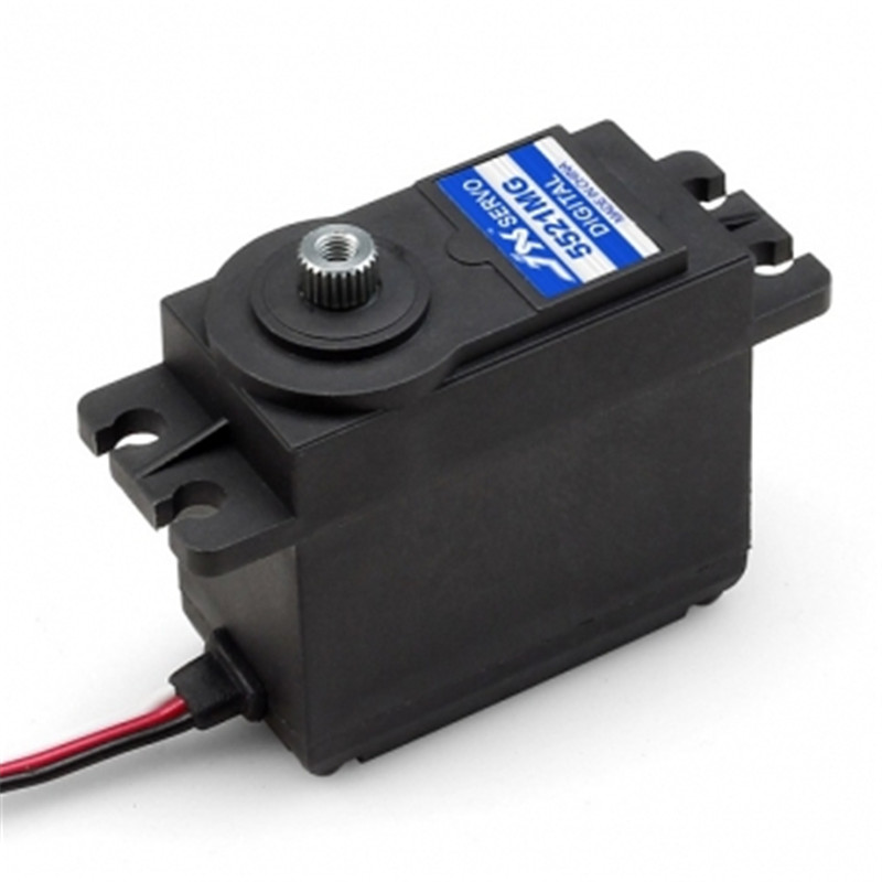 New JX PDI 5521MG 20KG High Torque Metal Gear Digital Servo For RC Model For RC Airplane Aircraft Glider Boat Car Toy Parts new spring rc sm s4315m all metal gear 15kg servo for rc car boat robot high torque dual ball bearing 15kg rc parts 1 jt fci