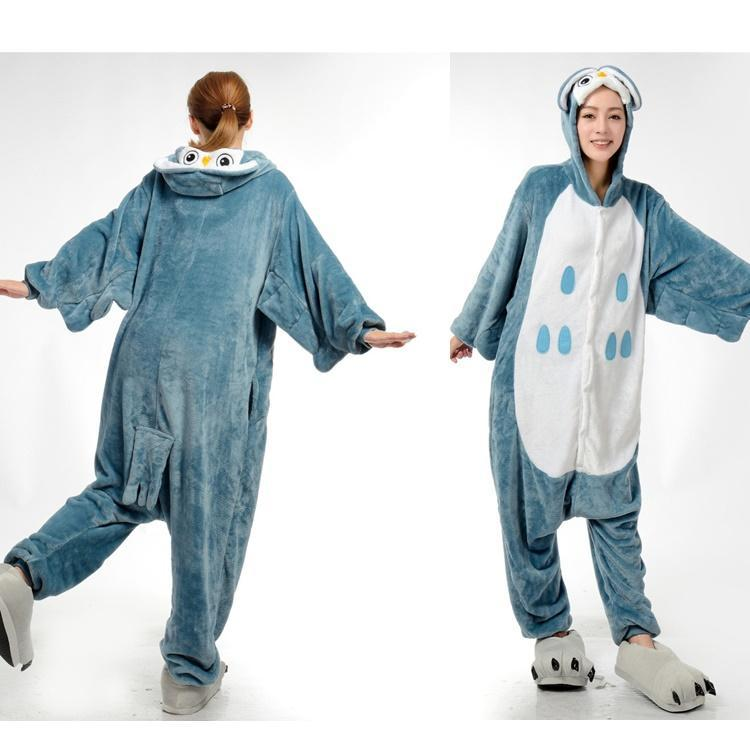 Funny Animal Costume Pajamas Onesies Owl For Adult Men And Women One Piece  Onesie Pajamas Sleepwear Jumpsuit-in Men s Costumes from Novelty   Special  Use on ... 621069a0e
