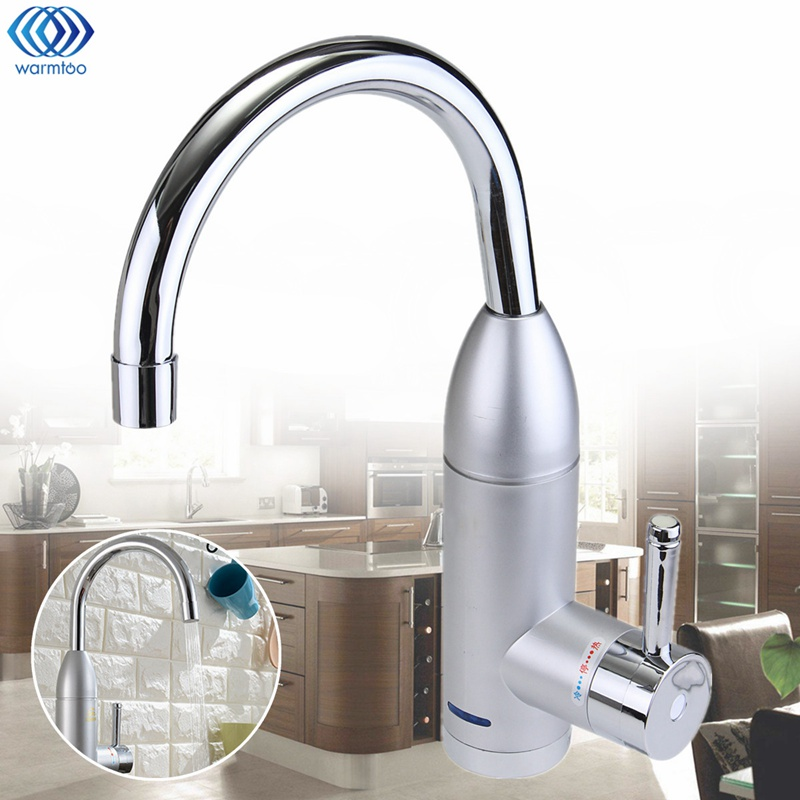 3000W Water Heater Kitchen Instant Heating Electrothermal Faucet Leakage Protection Wall Mounted Bathroom Washroom