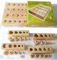 hot sale Jack cylinder wooden toy birthday gift wood Montessori family education mathematics sensory aids toy-gift free shiping
