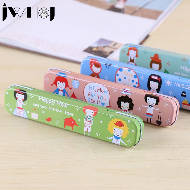 stationery Creative Pencil box metal iron pencil case stationary office materials School supplies Stationery Storage Box & ?_?stationery Creative Pencil box metal iron pencil case stationary ...
