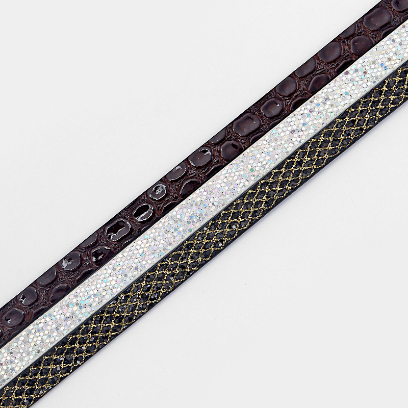 fontb1-b-font-meter-shiny-spangle-intersperse-brown-stone-102mm-flat-pu-leather-for-fashion-bracelet