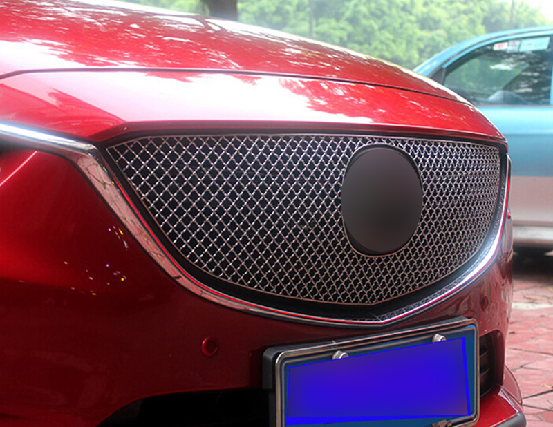 Honeycomb Front Grille Grill Mesh Cover protector 1pcs For Mazda Atenza / M6 m 6 2013 2014 2015 grey frp car grills front bumper grill grille for mazda 6 sedan 4 door only 2009 2013 gs gt i s