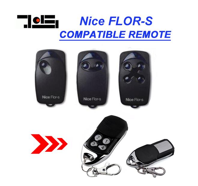 Nice FLOR-S replacement garage door remote control 433mhz rolling code free shipping v2 replacement remote control transmitter 433mhz rolling code top quality