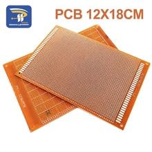 1 шт. 12x18 см 12*18 см Односторонний Прототип 2,54 мм PCB Универсальный макет экспериментальная бакелитовая медная пластина схемная плата