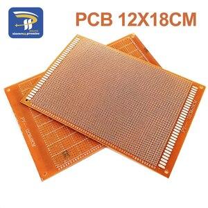 1pcs 12x18 cm 12*18cm Single Side Prototype 2.54mm PCB Breadboard Universal Experimental Bakelite Copper Plate Circuirt Board