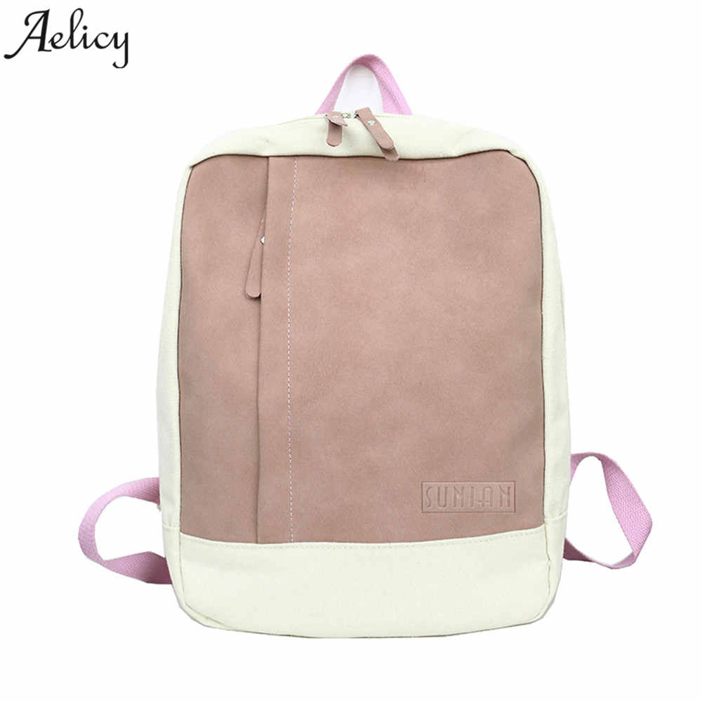 Aelicy Luxury Women Backpack School Bag for Teenagers girls College Patchwork Travel Rucksack Laptop Bag Bolsas Mochila fashion 17 inch printing backpack fruit style female women backbag cool girls school bag travel bag college rucksack mochila