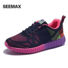 Brand Women Running Shoes Comfortable Weave Breathable Womens Lightweight Flywire Mesh Shoes Outdoor Athletic Girls Run Sneakers