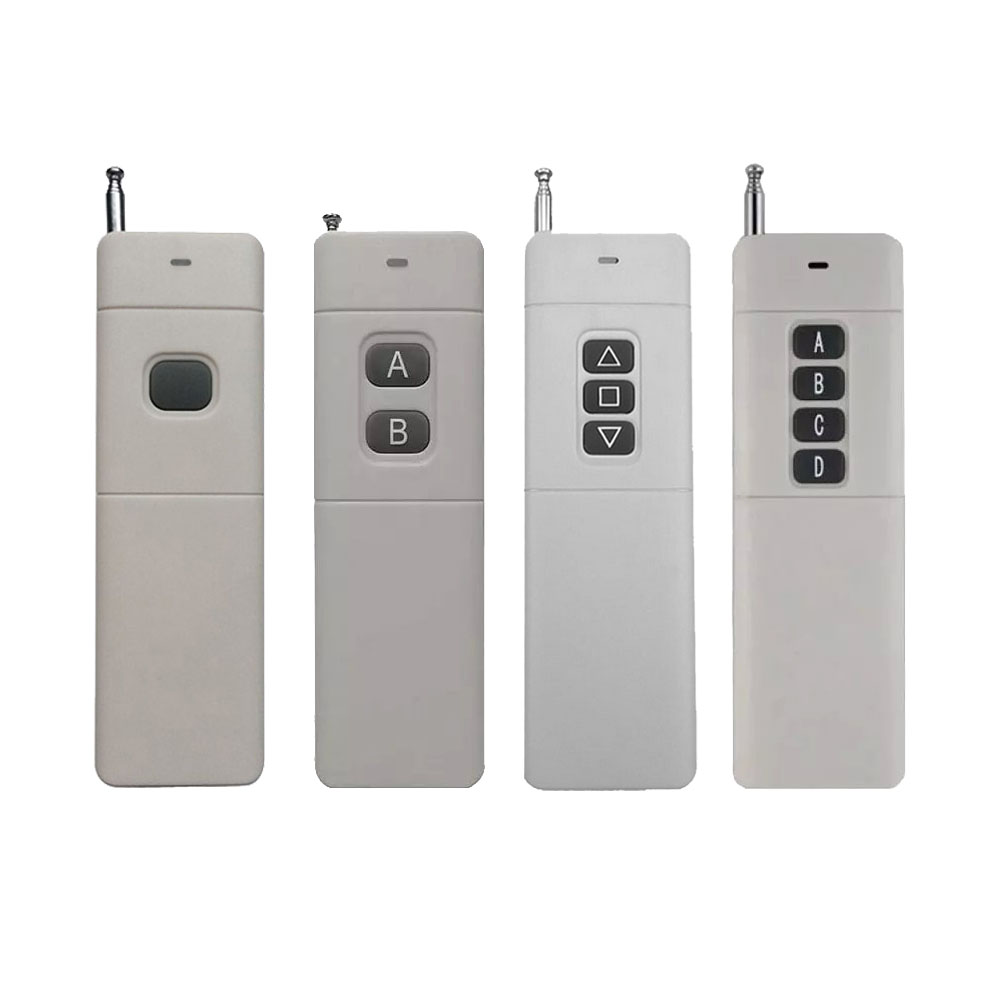 3000m 1/2/3/4 Remote Control Transmitter RF Radio Remote Long Range Distance High Power Transmitter TX 8CH Big Button 2262 remote control transmitter for remote switch 1 2 3 4 6 8 button small size long range big button remote key pad 315 433 22621527