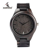 Mens Watch Fashion Casual Wood Watches For Men Quartz Watch Analog Cool Wrist Watch Leather Casual