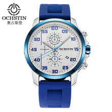 Men's Watches Top Brand Luxury Business Men Wrist Watch Calendar Stopwatch Multi-function Dial Leather Strap Male Casual Watch hot sale leather blue ray dial 30m waterproof calendar hands business dress sport wrist watch watches for men male elegant watch