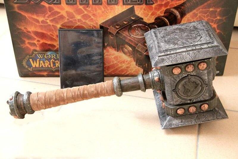 [Haut] 1:1 échelle 58 cm simulation WOW Ogrim Doomhammer résine armes modèle adulte enfants cosplay jouets collection cadeau