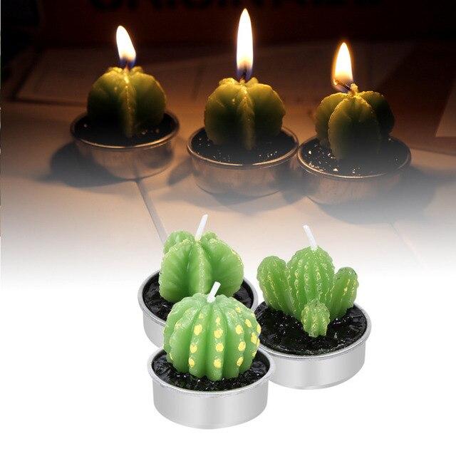Kerzen Dekoration.W 6 Teile Satz Grünpflanzen Kaktus Kerze Geburtstagskerze Partei Festival Hochzeit Kerzen Dekoration In W 6 Teile Satz Grünpflanzen Kaktus Kerze