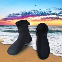 Hombres Mujeres 3mm espesar buceo Calcetines buceo Botas para Surf  snorkeling invierno Natación Calcetines neopreno antideslizan. 0a7bee48de2