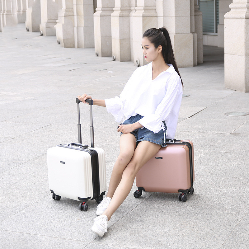 "18""Aluminum frame trolley case,Universal wheel boarding box,Fashion travel suitcase,Rolling Business Luggage,Portable Trip Trunk"