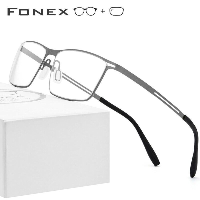 Titanio gafas marco hombres Semi montura 2019 ultraligero miopía marcos ópticos sin tornillos gafas