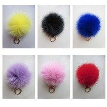 Женская модная сумка из натурального Лисьего меха, кулон/брелок/разноцветная Зимняя мода